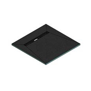 Abacus Elements Linear Level Access Shower Tray with End Drain 900mm x 900mm