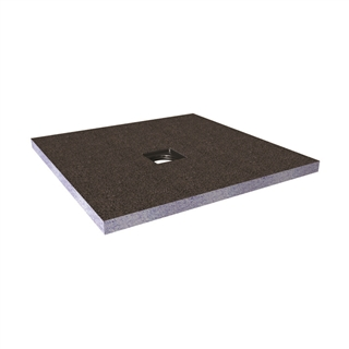 Abacus Elements Shower Tray with Centre Drain 400mm x 400mm