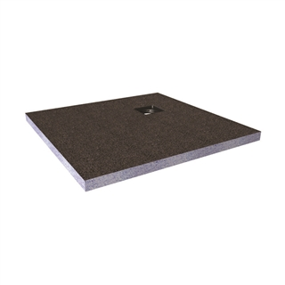 Abacus Elements Shower Tray with Corner Drain 900mm x 900mm