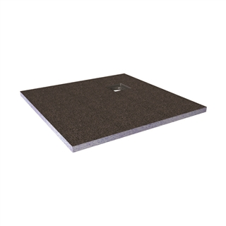 Abacus Elements Level Access Shower Tray with Corner Drain 900mm x 900mm