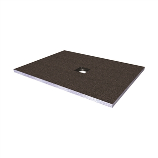 Abacus Elements Shower Tray with Centre Drain 1000mm x 900mm