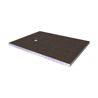 Abacus Elements Shower Tray with End Drain 1200mm x 900mm