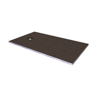 Abacus Elements Level Access Shower Tray with End Centre Drain 1600mm x 900mm