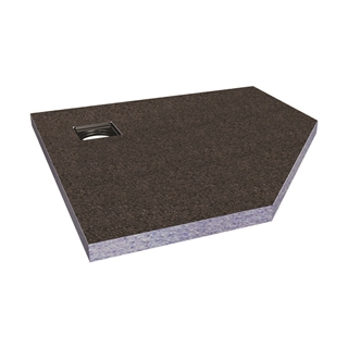 Abacus Elements Pentagon Shower Tray with Corner Drain 1000mm x 1000mm