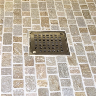 Abacus Elements Designer Stainless Steel Shower Drain Cover with Lockable Screws