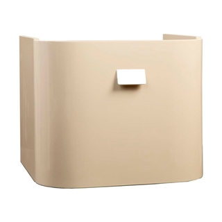 Vessini Opaz Curved Wall Mounted Basin Unit Beige