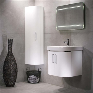 Roper Rhodes Luxe 600mm Wall Mounted Double Door Basin Unit White