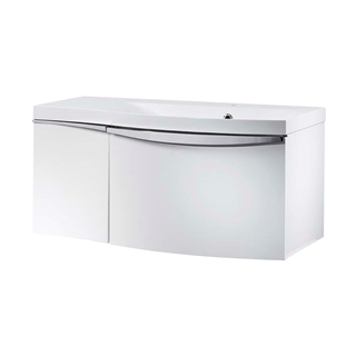 Roper Rhodes Serif 900mm Wall Mounted Basin Unit White Right Hand
