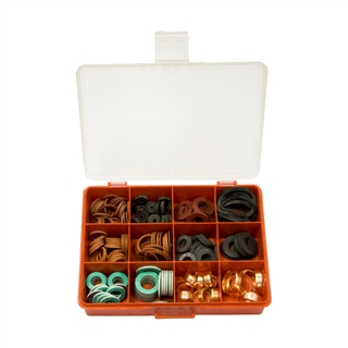 Fibre and Rubber Washer Kit (210 Pieces)