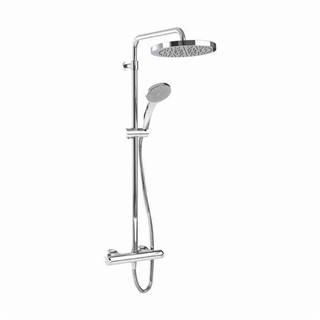 Contemporary Thermostatic Shower with Flexible Slide Rail Kit and Slim Eco Air Handset ISH009