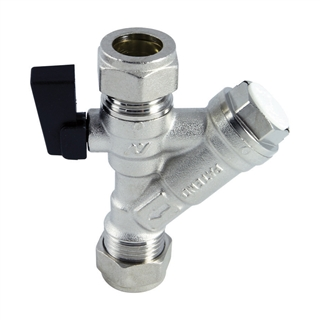 Altecnic 15mm Isolating Valve with Strainer