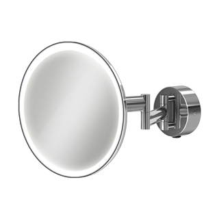 HiB Eclipse Round Magnifying Mirror with LED Lighting 200mm