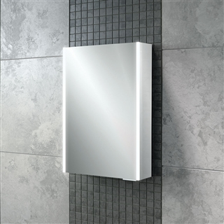 HiB Xenon 50 Single Door Cabinet with LED Lighting 505mm x 700mm