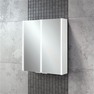 HiB Xenon 60 Double Door Cabinet with LED Lighting 505mm x 700mm