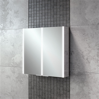 HiB Xenon 80 Double Door Cabinet with LED Lighting 820mm x 700mm