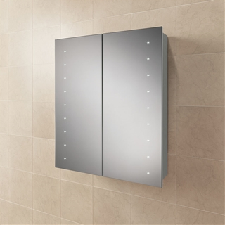 HiB Nimbus 60 Single Door Cabinet with Heated Demister and LED Lighting 600mm x 700mm