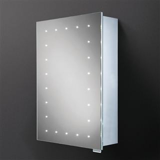 HiB Vogue Single Door Cabinet with Charging Socket, Heated Demister and LED Lighting 500mm x 700mm