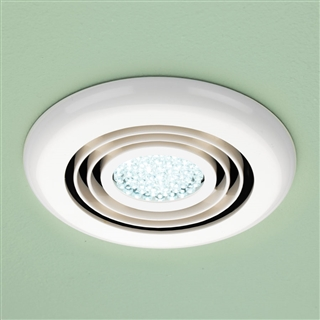 HiB Cyclone Wet Room Inline Fan with Cool White LED 145mm White