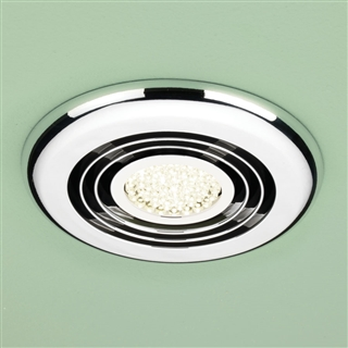 HiB Cyclone Wet Room Inline Fan with Warm White LED 145mm Chrome