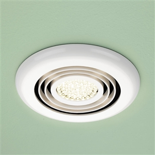 HiB Cyclone Wet Room Inline Fan with Warm White LED 145mm White