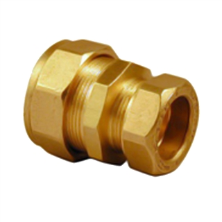"""Kuterlite Compression Fitting K1710KP 3/8"""" x 15mm Straight Coupling"""