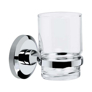 Bristan Solo Glass Tumbler and Holder Chrome