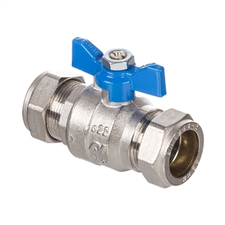 Altecnic Intaball Ball Valve 15mm with Blue Butterfly Handle