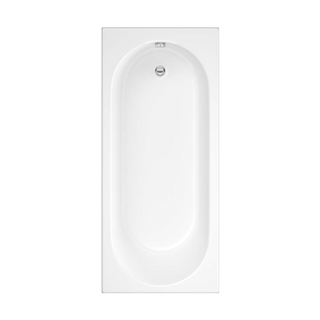 Cascade Single Ended Bath 1800mm x 800mm (No Taphole)  5mm Thick