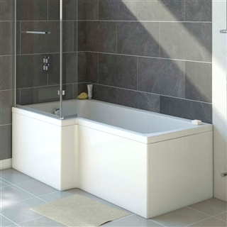 Solarna 1700mm L Shaped Front Shower Bath Panel
