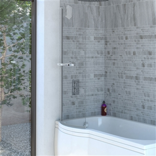 Reflex C Shaped Shower Bath Screen 750mm x 1400mm