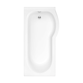 Concert Right Hand P Shaped Shower Bath 1500mm (No Taphole)
