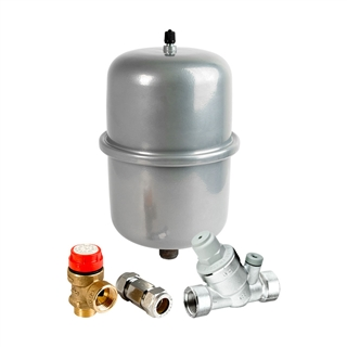 Inta Water Heater Pack with 2 Litre Expansion Vessel and Single Check Valve