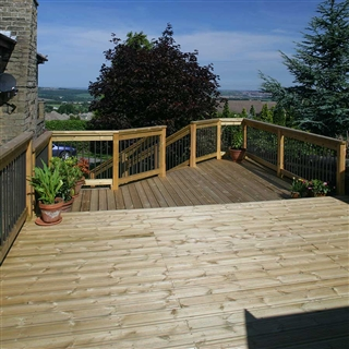 32mm x 125mm (27mm x 120mm Finished Size) Timber Decking Treated FSC