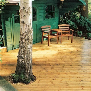 38mm x 125mm (33mm x 120mm Finished Size) Timber Decking Treated FSC