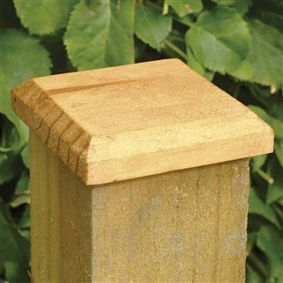 Post Cap Treated 120mm x 120mm for 100mm Post