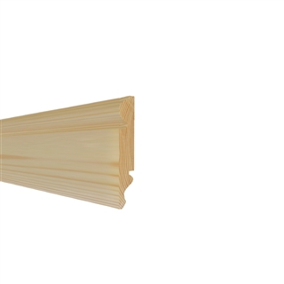 25mm x 125mm Premium Softwood Skirting Torus/Ogee (21mm x 120mm Finished Size)