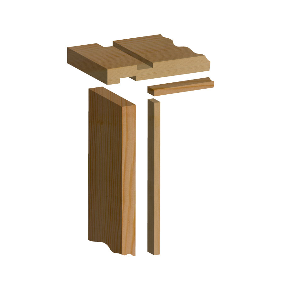 sc 1 st  MKM & Softwood Internal Door Lining Set 32mm x 115mm (Loose Stops)
