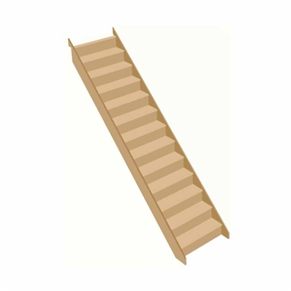 Softwood Staircase W85 2565mm Rise