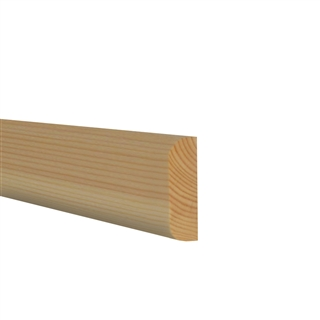 16mm x 75mm Softwood Architrave Double Pencil Round (12mm x 70mm Finished Size) PEFC