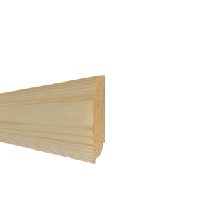 25mm x 125mm Softwood Skirting Torus/Ovolo (21mm x 120mm Finished Size)