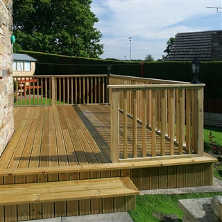 32mm x 150mm (27mm x 145mm Finished Size) Timber Decking Treated FSC