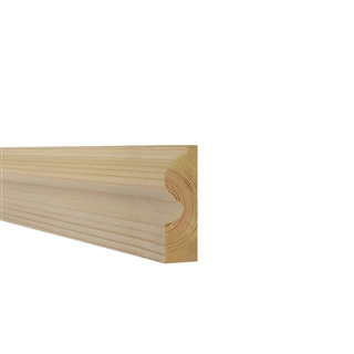 25mm x 75mm Softwood Architrave Torus (21mm x 70mm Finished Size)