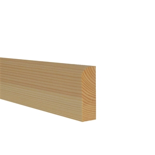 19mm x 75mm Softwood Architrave Pencil Round (15mm x 70mm Finished Size)