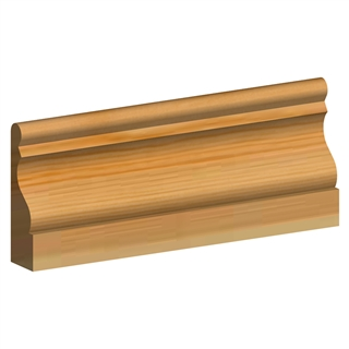 19mm x 100mm Softwood Architrave Ogee & Bead (16mm x 95mm Finished Size) PEFC