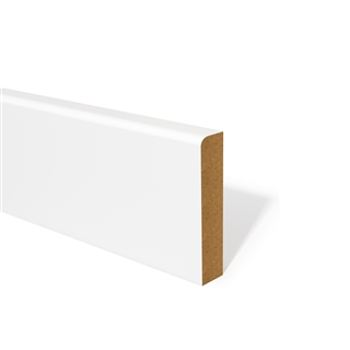 15mm x 94mm MDF Skirting Pencil Round Primed FSC