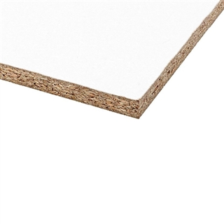 1830mm x 381mm x 15mm Melamine Faced Chipboard White FSC