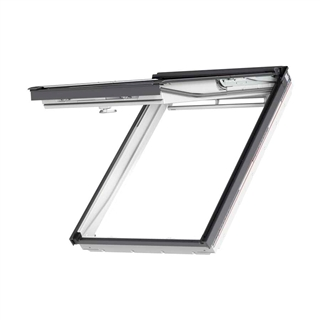 VELUX 550mm x 980mm White Poly Finish Top Hung Roof Window --70 Pane  GPU CK04 0070
