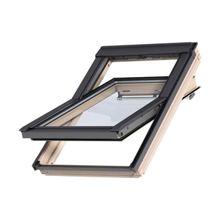 VELUX 1340mm x 980mm Pine Finish Centre Pivot Roof Window --60 Pane  GGL UK04 3060R