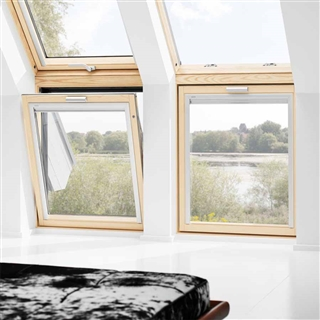 Velux 780mm x 600mm pine finish vertical roof window 60 for How to clean velux skylights