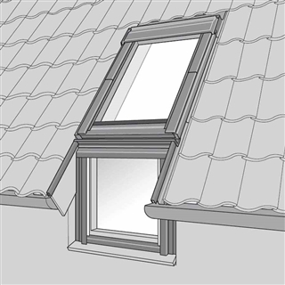 VELUX 780mm x 1400mm Single Roof/Vertical Window Tile Flashing  EFW MK08 0012